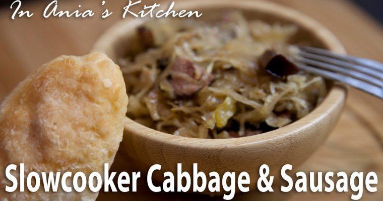Slow Cooker Cabbage & Sausage – Kapusta z Kiełbasą z Wolnowaru – Recipe #292